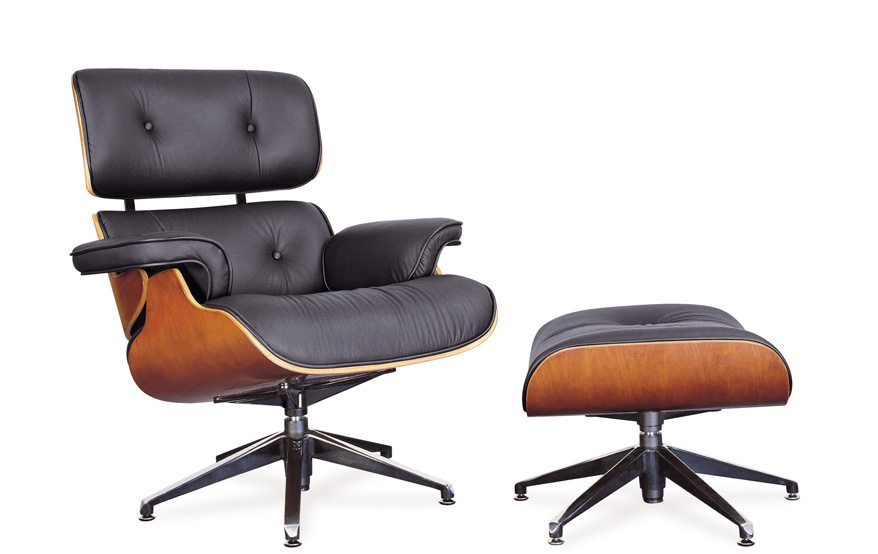 Charming Knockoff Herman Miller Eames Lounge Chair, Contemporary Lounge Leather Chair  With Ottoman