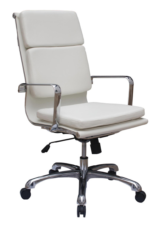 The office leader high back executive contemporary office for Modern leather office chairs
