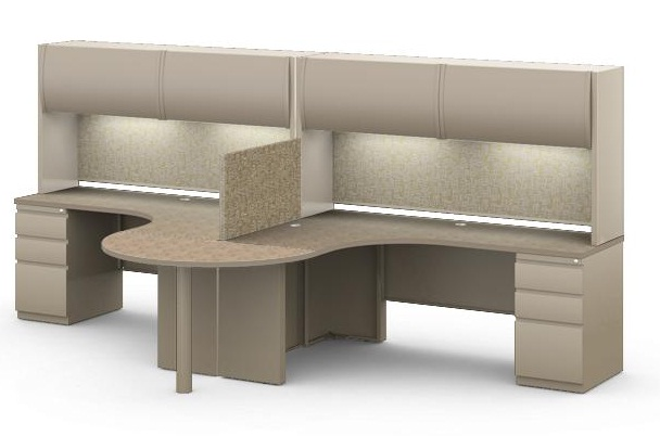 The Office Leader Mayline Csii Modular 2 Person Workstation Multi