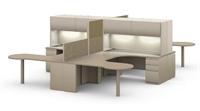 Picture of 4 Person Workstation, Steel U Shape 4 Person Office Desk Workstation