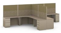 Picture of L Shape 2 Person Workstation, Steel Modular 2 Person Office  Desk Workstation