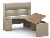 Picture of 6' x 8' L Shape Office Desk Workstation, Steel Desk Workstation