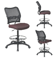 Picture of Office Star 13-7N20D, Armless Mesh Drafting Chair with Drafting Footring