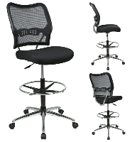 Office Star 13 37P500D AirGrid Mesh Armless Drafting Chair with Adjustable  FootringThe Office Leader  Office Star Chairs  Desk Workstations  Filing  . Office Star Height Adjustable Drafting Chair With Footring. Home Design Ideas