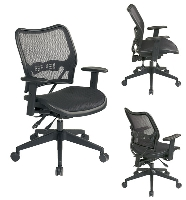 Picture of Office Star 13-77N9WA Mid Back Office Mesh AirGrid Multifunction Chair