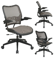 Picture of Office Star 13-88N1P3 Mid Back AirGrid Mesh Chair with Cantilever Arms