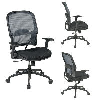 Picture of Office Star 15-NXM37Y318P Mid Back Cobalt Mesh Chair, Adjustable Lumbar with Gunmetal Base