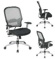Picture of Office Star 15-SXM32Y618R Mid Back Mesh Office Chair, Adjustable Lumbar with Platinum Finish