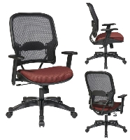 Picture of Office Star 1587C Mid Back Office Task Chair, Adjustable Lumbar with Gunmetal Base