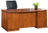 "Picture of Office Star Mendocino MENTYP1 72"" Bow  Double Pedestal Veneer Executive Office Desk"