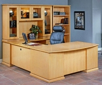 Picture of Office Star Mendocino MENTYP13 Veneer Executive Office Desk Workstation