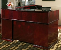 Picture of Office Star MENTYP19 Veneer L Shape Reception Desk Workstation