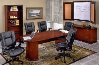 Picture of Office Star Mendocino MENTYP20 Veneer Conference Table with Storage and Presentation Board