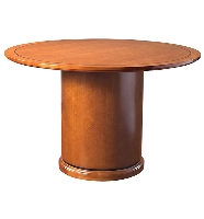"Picture of Office Star Mendocino MEN59 48"" Round Veneer Conference Table"
