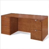 "Picture of Office Star Kenwood KENTYP2 72"" Veneer Double Pedestal Office Desk"