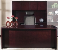 Picture of Office Star Kenwood KENTYP11 Veneer Executive Office Desk With Credenza and Hutch