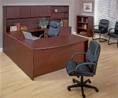 Charming Office Star Napa NAPTYP13, NAPTYP15, Laminate U Shape Office Desk  Workstation With Lateral Bookcase