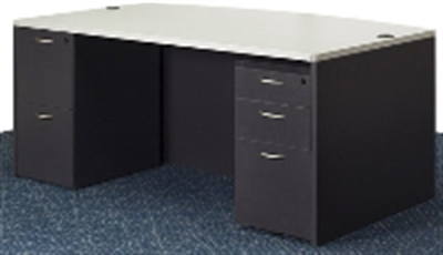 Office Star Napa Naptyp1 72 Laminte Double Pedestal Desk Bow Top