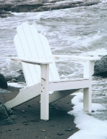 Picture of Seaside Adirondack Outdoor Shell Cafe Dining Side Chair