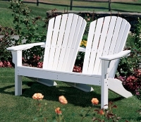 Picture of Seaside Adirondack Outdoor Shellback Two Seat Loveseat Dining Chair
