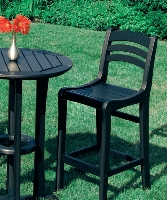 Picture of Seaside Charleston Outdoor Polymer Cafe Dining Barstool Chair