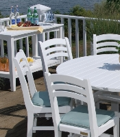 Picture of Seaside Charleston Outdoor Polymer Cafe Dining Side Chair