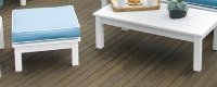 Picture of Seaside Nantucket Outdoor Polymer Ottoman