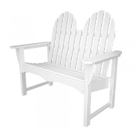 Picture of Polywood Adirondack ADBN-1, Recycled Plastic Outdoor Two Seat Loveseat Bench