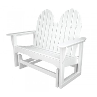 Picture of Polywood Adirondack ADGL-1, Recycled Plastic Outdoor Two Seat Loveseat Glider