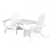 Picture of Polywood Adirondack TT4040, Recycled Plastic Outdoor Two Seat Chairs with Connecting Table