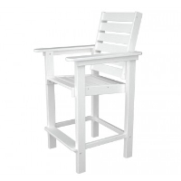 Picture of Polywood Captain CCB25, Recycled Plastic Outdoor Cafe Dining Counter Chair