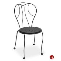 Picture of Homecrest Espresso 90590, Outdoor Steel Stackable Dining Side Chair