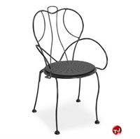 Picture of Homecrest Espresso 90390, Outdoor Steel Stackable Cafe Arm Chair