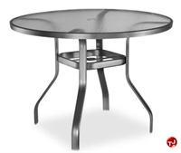 "Picture of Homecrest 1734501, Outdoor Glass 36"" Round Balcony Table"