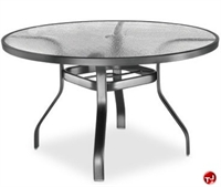 "Picture of Homecrest 1749501, Outdoor Glass 48"" Round Dining Table with Hole"