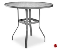"Picture of Homecrest 0749501, Outdoor Aluminum Glass 48"" Round Bar Table with Hole"