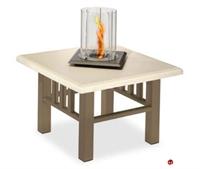 "Picture of Homecrest Trenton Venturi Flame 5524FP, Outdoor Firepit, 24"" Square Table"