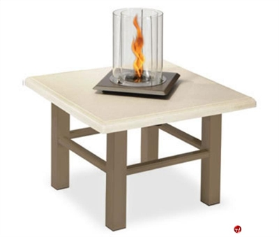 """Picture of Homecrest Midtown Venturi Flame 5724FP, Outdoor Firepit, 24"""" Square Table"""