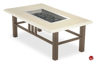 Picture of Homecrest Trenton Venturi Flame 5544FP, Outdoor Firepit with Faux Granite Table