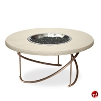 Picture of Homecrest Cirque Burner Firepit, Outdoor 6036FP Firepit with Faux Granite Table Top