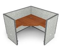 Picture of OFM Rize R1X1-4760-V, L Shape Office Desk Cubicle Workstation