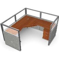 "Picture of OFM Rize R1X1-4772-P, L Shape 72"" Office Desk Cubicle Workstation"