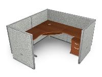 """Picture of OFM Rize R1X1-4772-V, L Shape 72"""" Desk Cubicle Workstation"""