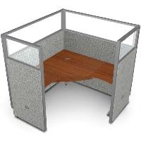 """Picture of OFM Rize R1X1-6360-P, L Shape 60"""" Desk Cubicle Workstation"""