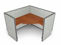 """Picture of OFM Rize R1X1-6360-V, L Shape 60"""" Desk Cubicle Workstation"""