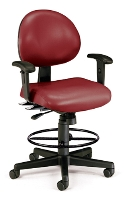Picture of OFM 241-VAM-AA-DK, 24 Hour Vinyl Task Chair, Drafting Stool