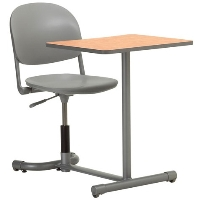 Picture of KI 360TP, 360 Degree Torsion Auto Height Swivel Chair with Connecting Student Table