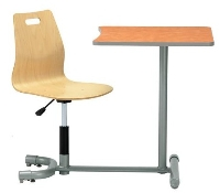Picture of KI 3601WP, 360 Degree Auto Height Auto Return Chair with Connecting Table