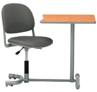 Picture of KI 3061TU, Torsion Auto Height Auto Return Chair with Connecting Table