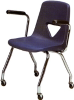 Picture of Scholar Craft 120 Series, 127-AC Poly Plastic Mobile Classroom Arm Chair